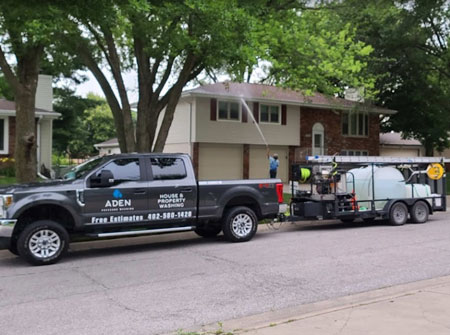 Contact Us at Aden Pressure Washing for Exterior Window Cleaning in Lincoln, NE